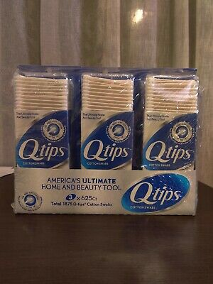 $ CDN24.20 • Buy Q-tips Cotton Swabs Family Size 3 Packs Of 625