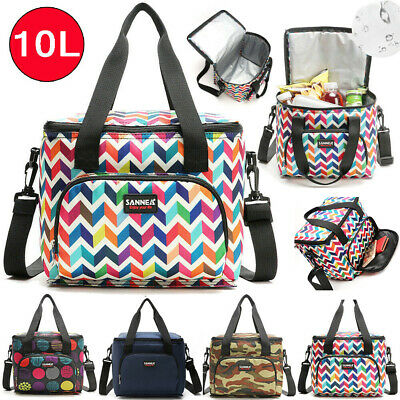 AU17.39 • Buy 10L Portable Lunch Bag Insulated Double Layer Thermal&Cooler Food Bags Storage