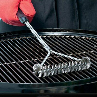 £4.79 • Buy Stainless Steel Kitchen BBQ Grill Barbecue Kit Cleaning Brush Cooking Tools UK