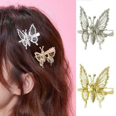 $ CDN1.58 • Buy Butterfly Hairpin Gold Hair Clip Accessories Womens Gift Jewelry X1 Wedding E2G3