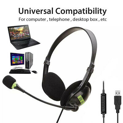 AU11.49 • Buy Gaming Headset USB/3.5mm Wired Headphones Stereo Mic For PC Desktop & Laptop