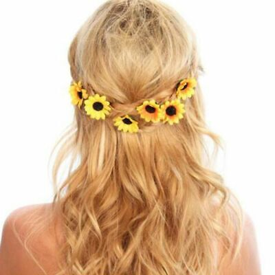 $ CDN7.04 • Buy Women's Sunflower Hair Clip Sweet Wedding Party Bridal Prom Hair Accessories