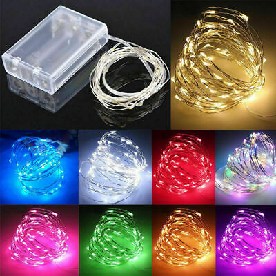 $6.99 • Buy 2M-10M AA Battery Operated LED Fairy String Lights Lamp Party Wedding Xmas Decor