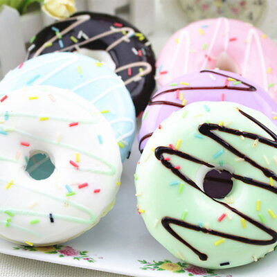 AU6.79 • Buy Squishy Squeeze Stress Reliever Soft Colourful Doughnut Scented Rising Toys