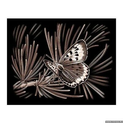 £4.99 • Buy Reeves Copper Foil Scraperfoil Engraving Art - Butterfly - PPCF43