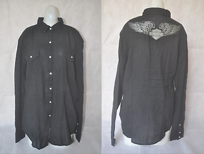 $ CDN19.34 • Buy New Harley-Davidson Women's Eagle Black Shirt Long Sleeve Cotton Blouse Top S