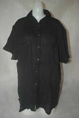 $ CDN19.34 • Buy Harley-Davidson Womens Ladies Snap Button-down Top Short Sleeve Black Blouse XS