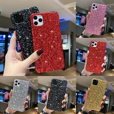 £3.29 • Buy For IPhone 12 11 XR XS SE 7 8 Plus 6s Glitter Sparkly Shockproof Hard Case Cover