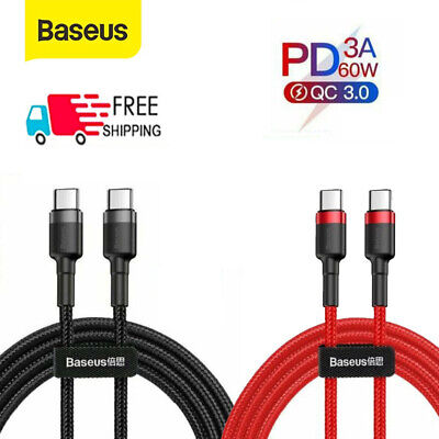 £4.29 • Buy Baseus 60W USB C To USB C Fast Charger Dual Type C Charging Data Sync Cable UK