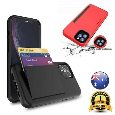 AU9.55 • Buy Heavy Duty Case Armor Wallet Card Slot Holder Cover IPhone 11 12 Samsung S20 S21