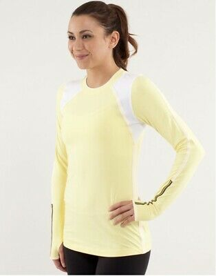 $ CDN30.32 • Buy Lululemon Run: Layer Me Long Sleeve.  Size 4.  Yellow