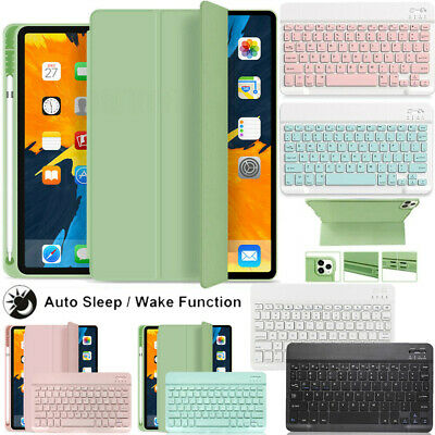 AU38.95 • Buy For IPad 7/8th Air 4 3 9.7  5/6th Pro 11  Leather Keyboard Case With Pencil Slot