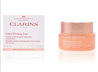 £14.99 • Buy 50ml Clarins Extra Firming Jour Wrinkle Control Firming Day Cream For Dry Skin