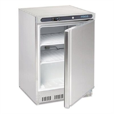 £721.50 • Buy Polar Undercounter Freezer Stainless Steel 140 Ltr - CD081 Commercial Hinged
