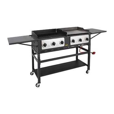 £745.50 • Buy Buffalo 6 Burner Combi BBQ Grill And Griddle - CP240 Outdoor Catering