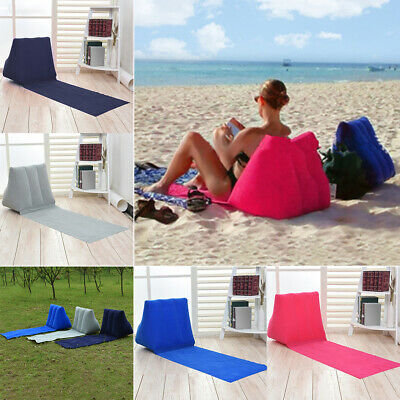 £11.62 • Buy Chill Seat Inflatable Beach Chair Festival Camping Lounger Pillow Seat Cushion