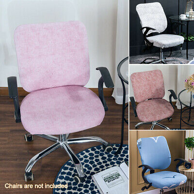 AU13.99 • Buy Modern Computer Office Swivel Chair Cover Separate Stretchable Removable Home