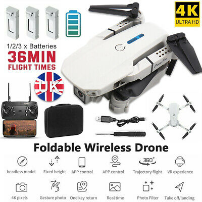 £30.69 • Buy 2021 Drone RC Drones Pro 4K HD Camera GPS WIFI FPV Quadcopter Foldable Bag Gifts