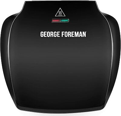 £25.99 • Buy George Foreman Family 5-Portion(510 Sq Cm Plate) Grill 23420, Black