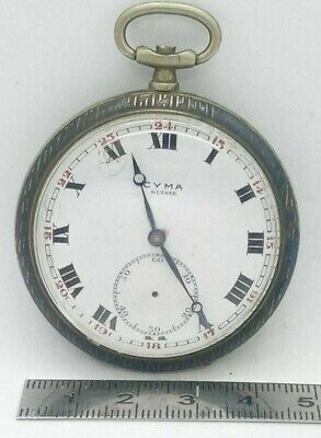 £43.01 • Buy Antique Pocket Watch, Cyma, Russian Silver, Niele, Two Caps
