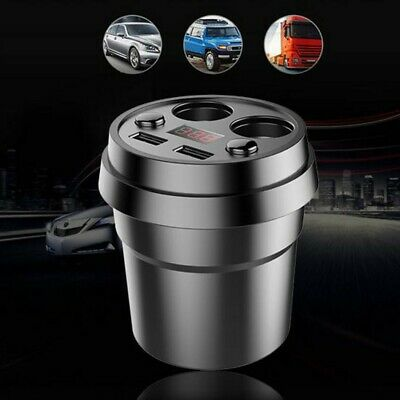 £12.78 • Buy Auto Car Cigar Lighter Socket Cup Holder Charger Power Dual USB Adapter DC12/24V