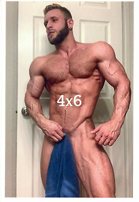 $ CDN9.67 • Buy Muscular Hairy Chest Blonde Male Holding Towel Beefcake Gay Interest 4x6 Photo