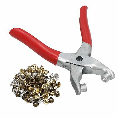 £4.50 • Buy Eyelet Pliers Punch Tool Complete With 100 Eyelets Card Sheets Covers Crafting