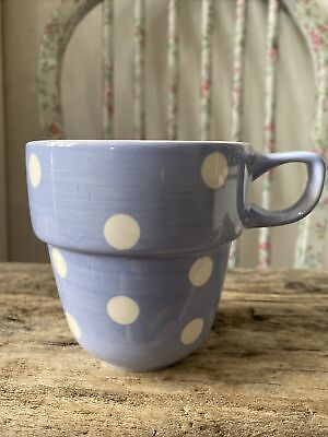 £12.99 • Buy M&S Stacking Stackable Mug Cup Pale Blue White Polka Dots Spotty Replacement
