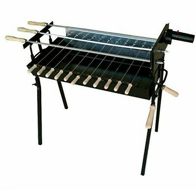 £199.97 • Buy Cypriot Charcoal Rotisserie Barbecue Kebab Grill Foukou BBQ & Motor - Extra Wide
