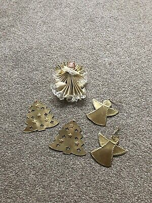 $ CDN1.69 • Buy Christmas Vintage Angel And Brass Tree Decorations