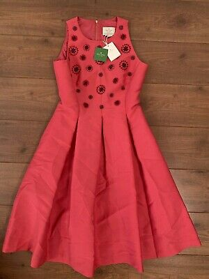 $ CDN92 • Buy Kate Spade Embellished And Flare Dress In Pink | SIZE UK 10