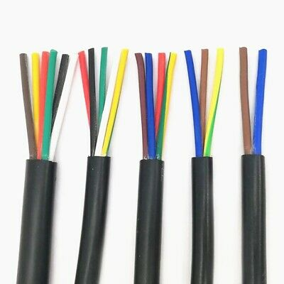 AU15.43 • Buy 22 AWG 0.3MM 2 RVV 2/3/4/5/6/7/8/10/12/14/16/18 Cores Pins Copper Wire Conductor