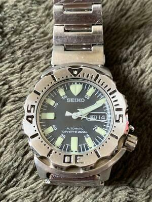 $ CDN429.53 • Buy Seiko Black Monster Divers Automatic 7S26-0350 Day/Date Men's Watch E1