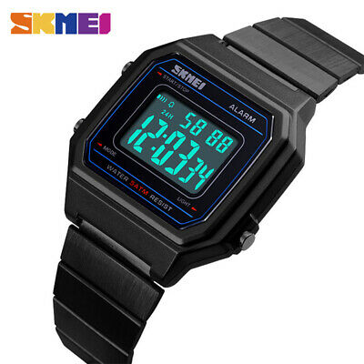 $ CDN13.31 • Buy Skmei Luxury Women Men Watch Stainless Steel Watches Alarm Led Back Light 1377