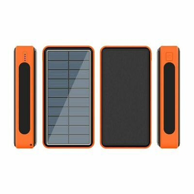 AU50.26 • Buy 80000mAh Power Bank Solar Or Wireless Portable Phone Fast Charging 4 USB Charger