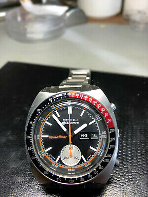 $ CDN1550 • Buy Vintage Seiko Chronograph Automatic 6139-6002 Speed Timer Black&Red