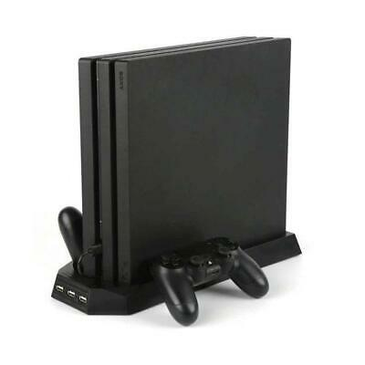 AU33.12 • Buy For PS4 Pro Cooling Fans Station Vertical Stand W/ 2 Controller Charging Do KM
