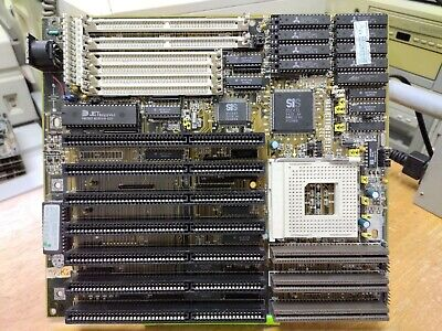 AU90.11 • Buy AT SOYO 486 Motherboard SiS-85C471 Chipset  VLB ISA Socket 3  Tested Working!