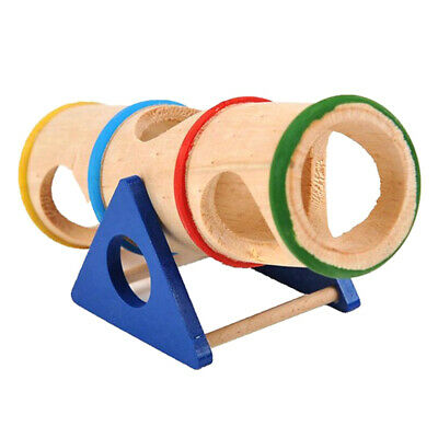 £7.99 • Buy Animal Playground Cylinder Wooden Seesaw For Hamsters Mice Small Furry AnimalsBG