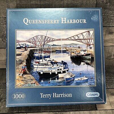 £11.99 • Buy Gibsons 1000 Piece Jigsaw Puzzle Queensferry Harbour By Terry Harrison