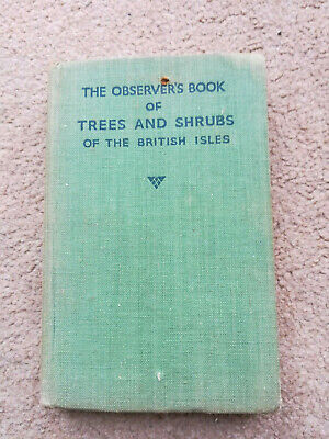 £4 • Buy The Observers Book Of Trees And Shrubs, W J Stokoe, Frederick , Good Cir1954