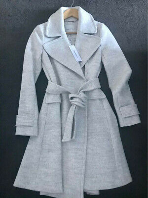 AU70 • Buy Forever New Mia Fit And Flare Coat Grey Marle Size 8 BNWT