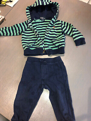 £7.50 • Buy Baby Boy Genuine Ralph Lauren 12 Months Tracksuit Set Designer