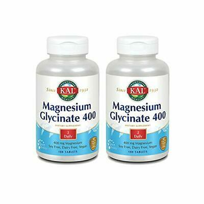£47.94 • Buy KAL Magnesium Glycinate 400   Vegan Chelated Non-GMO Soy Dairy And Gluten Fre...