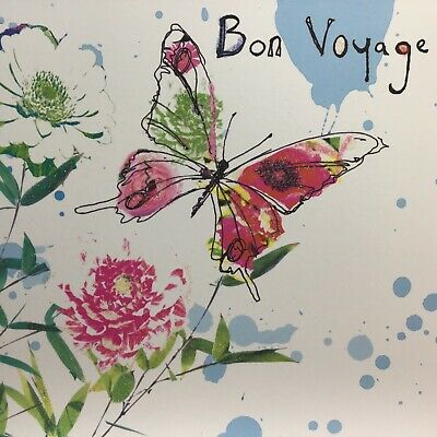 £3.25 • Buy Lovely Sketches Bon Voyage Card  With Butterfly