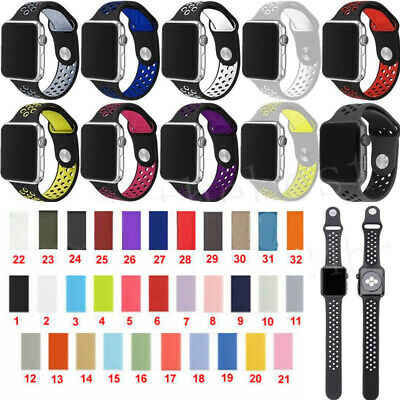 $ CDN7.33 • Buy For Apple Watch Silikon Armbänder Sport Armband Series 1 2 3 38-44mm 57 Farbens