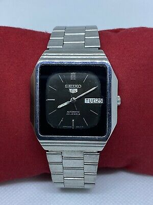 $ CDN1.69 • Buy Vintage Seiko 5 Black Dial Automatic Watch (Good CONDITION) SERVICED