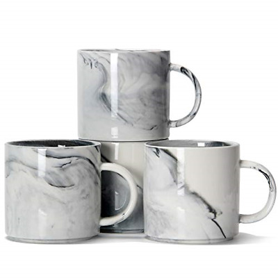 £28.15 • Buy 12 Oz / 320ml Stackable Coffee Mugs, Smilatte M101 Novelty Marble Ceramic Cup Of