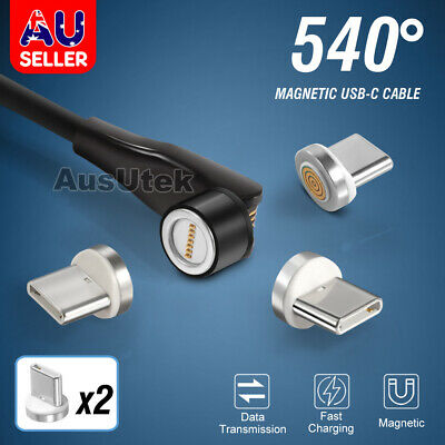 AU9.99 • Buy 540° Fast Charge USB-C Magnetic Cable Sync Charger For Samsung S21 Ultra Google