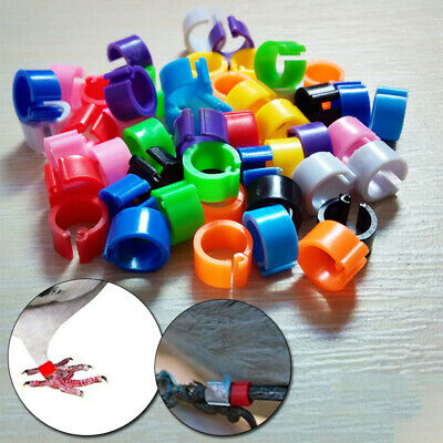 £2.74 • Buy 100 Pcs Poultry Clip Leg Rings 8mm Chicken Hatching Pigeon Pheasant Bird Tools